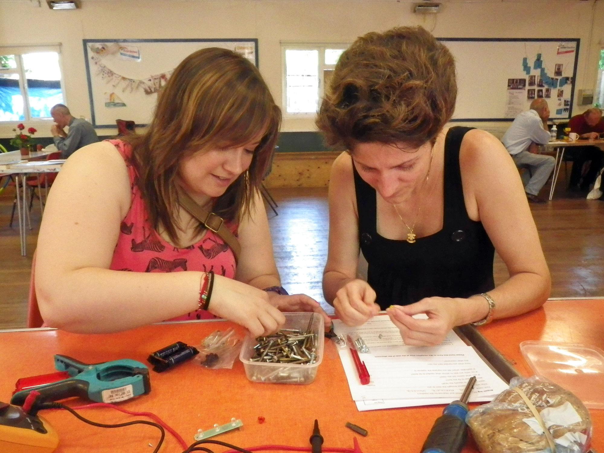 Women repairing